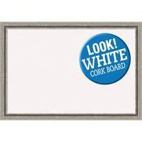 Framed White Cork Board, Bel Volto Silver