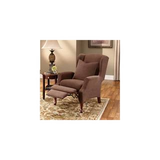 Sure Fit Stretch Pique Wing Recliner Slipcover