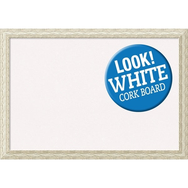 Framed White Cork Board, Cape Cod White Wash