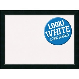Framed White Cork Board, Corvino Black