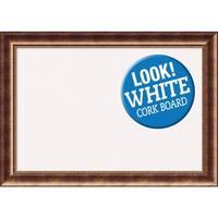 Framed White Cork Board, Manhattan Bronze