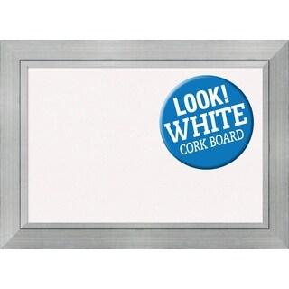 Framed White Cork Board, Romano Silver