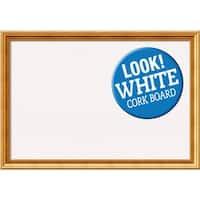 Framed White Cork Board, Townhouse Gold