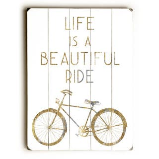 Gilded Hipster Bicycle - Wall Decor by WildApple