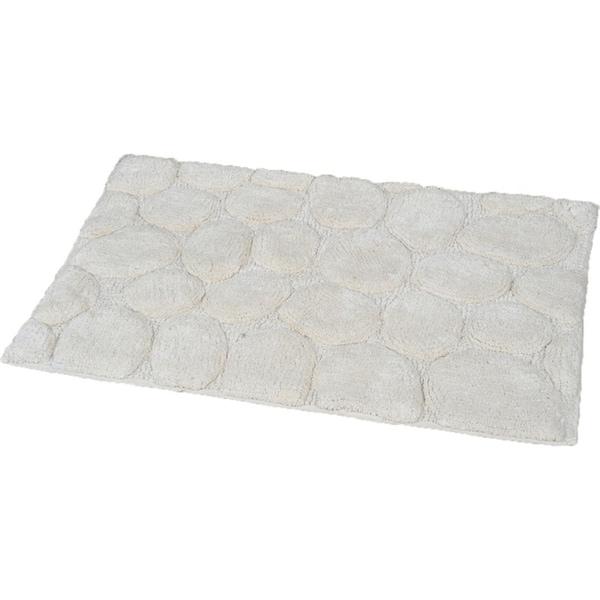 Evideco Prestige Soft Cotton Bath Rug Stone Rectangular Bath Mat