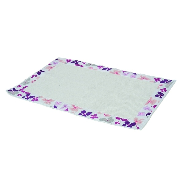 Fine Evideco Printed Border Cotton Bath Mat Home Rug Design Softies Purple Interior Design Ideas Gentotryabchikinfo
