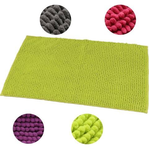 "Microfiber Area Rug Polyester Luxurious Balls Bath mat 30""L x 17""W"