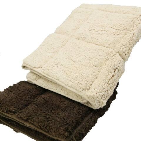 Prestige Soft Cotton Bath Rug Andrea Beige Rectangular 20W X 31.5L
