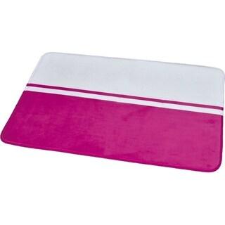 Evideco Microfiber Bath Mat Design Two colored Bath Rug - 36 x 24 x 1