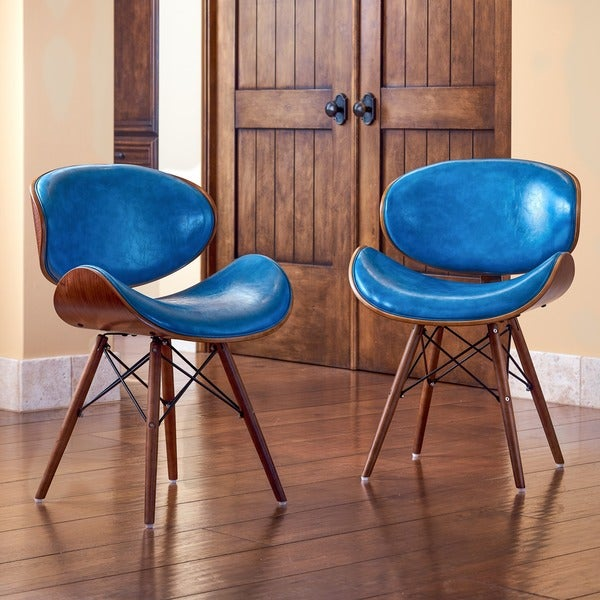Wooden Arm Chairs In Teal ~ Shop corvus madonna mid century teal accent chair free