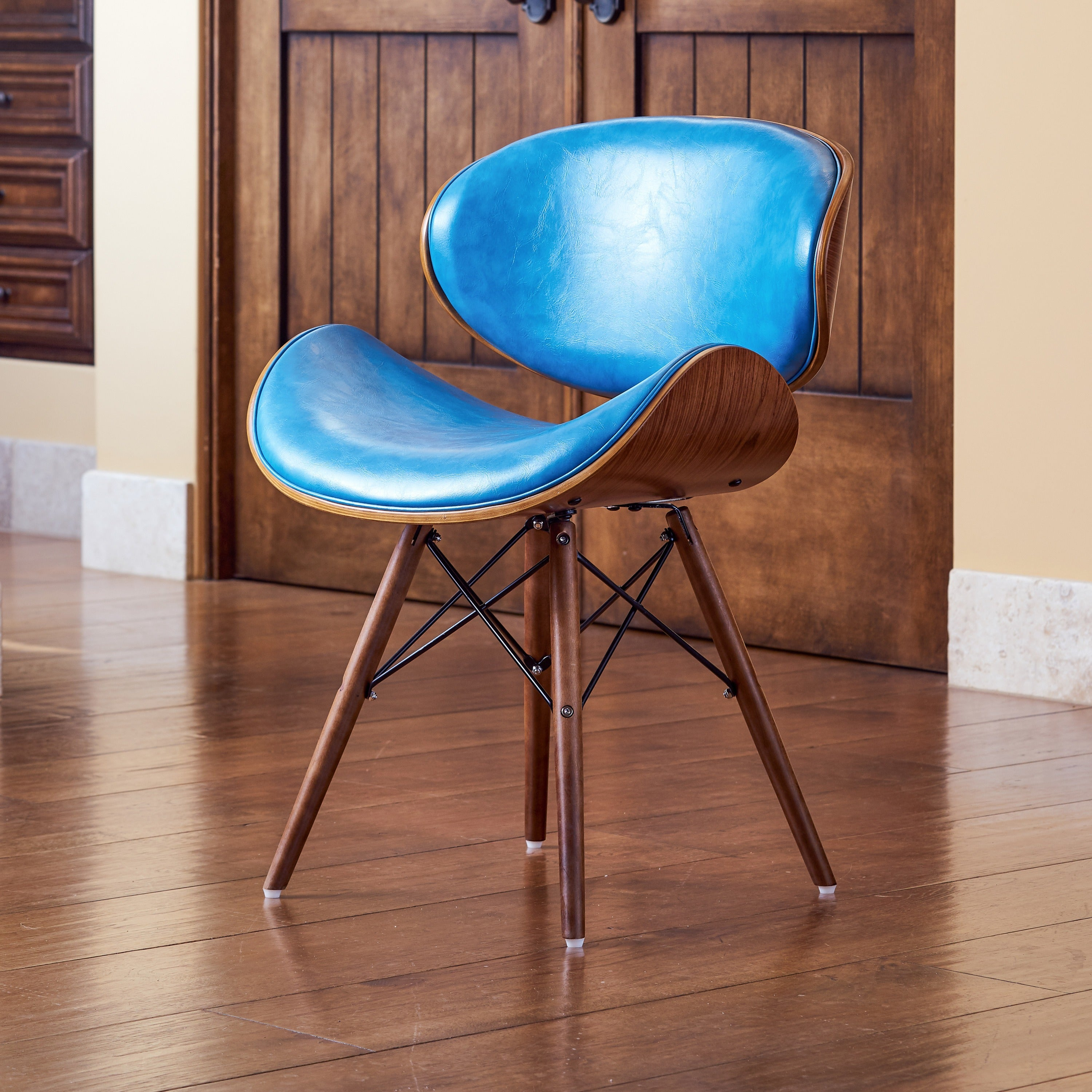 Corvus Madonna Mid-century Teal Accent Chair (2 options available)