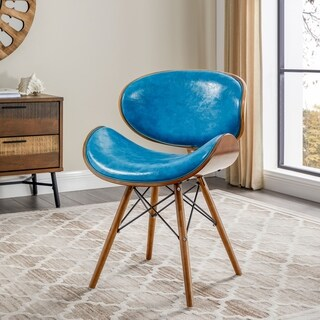 Corvus Madonna Mid-century Teal Accent Chair