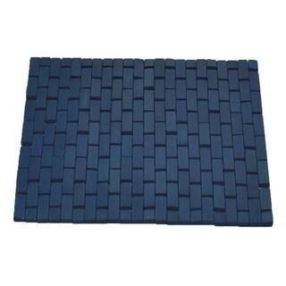 Evideco Bamboo Slats Roll-Up Foldable Shower Door Bath Mat