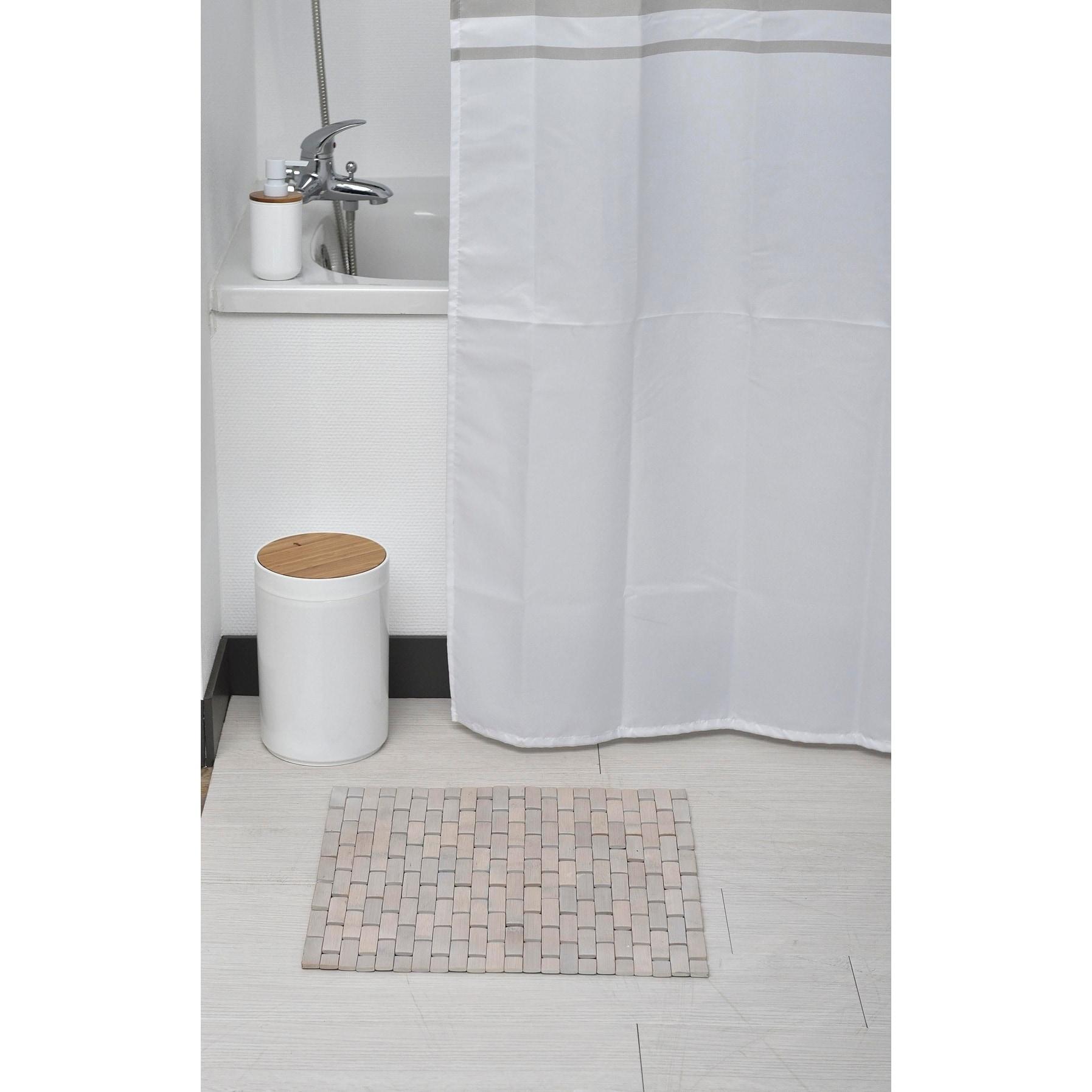 Evideco Bamboo Slats Roll Up Foldable Shower Door