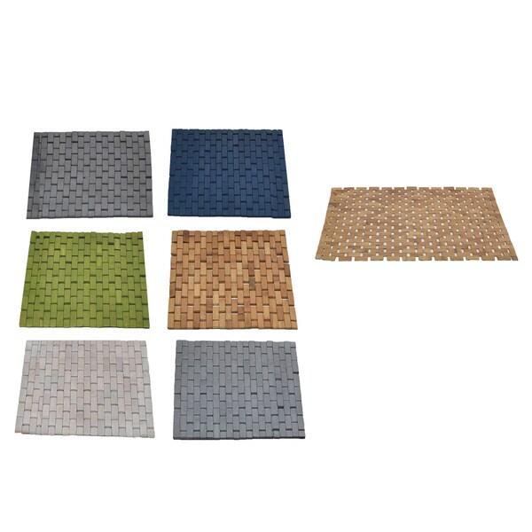 Shop Evideco Bamboo Slats Roll-Up Foldable Shower Door Bath Mat ...