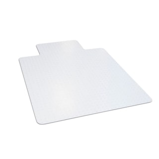 "Dimex 36"" x 48"" Clear Office Chair Mat With Lip For Low Pile Carpet"