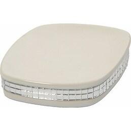 Evideco Stoneware Soap Dish Cup White