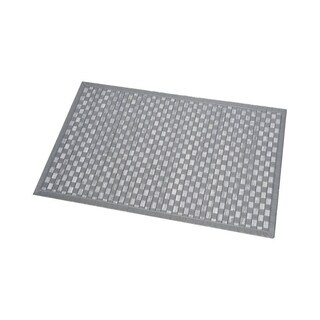 Evideco Anti Slippery Bamboo Bath Mat Bath Rug In Cross Twill