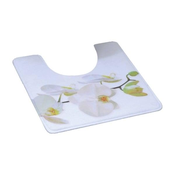 Evideco Pedestal Toilet Mat Contour Rug Design PURITY Orchid White