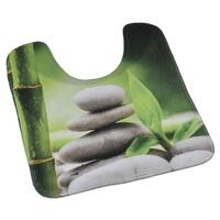 Evideco Pedestal Toilet Mat Contour Rug Design Zen and Co Green Mat