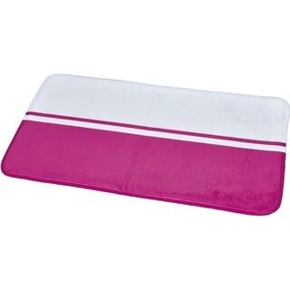 Evideco Microfiber Bath Mat Design Two colored 29.5L x 17W