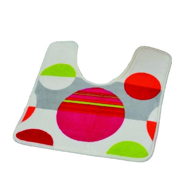 Evideco Pedestal Toilet Mat Contour Rug Design ECLATS Multicolored