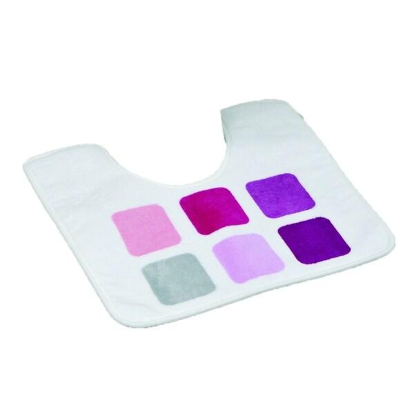 Evideco Pedestal Toilet Mat Contour Rug Design MOSAIC Purple Mat