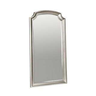 Park Ave Silver-tone Wood Floor Mirror