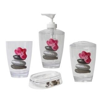 Evideco Clear Acrylic Bath Tumbler Design Spa