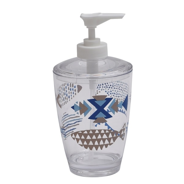 Evideco Clear Acrylic Soap Dispenser Lotion Pump Design Nautical