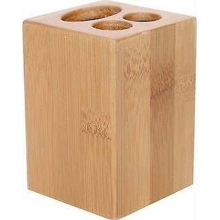 Evideco Ecobio Bamboo Square Toothbrush and Toothpaste Holder