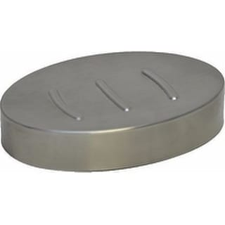 Evideco Stainless Steel Oval Hammer Soap Dish Cup Silver
