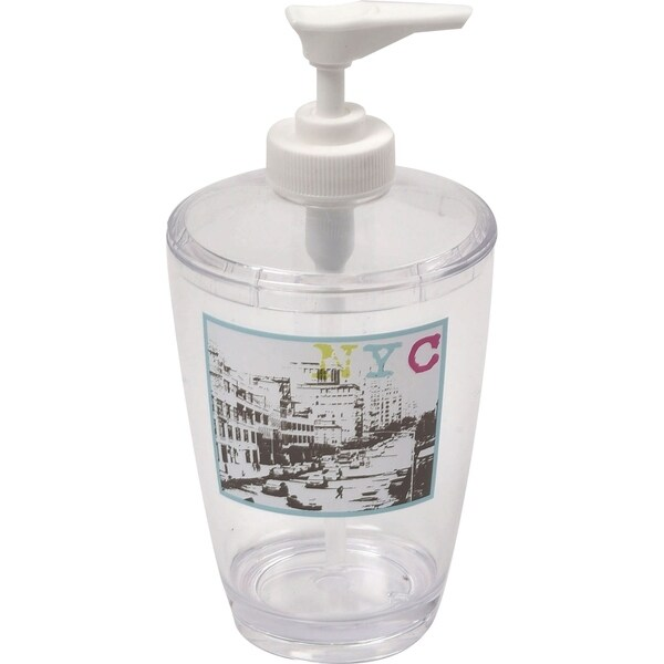 Evideco Clear Acrylic Soap Dispenser Lotion Pump Design Urban NYC