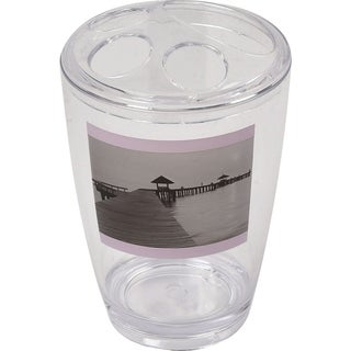 Evideco Clear Acrylic Toothbrush Toothpaste Holder Design Seaside