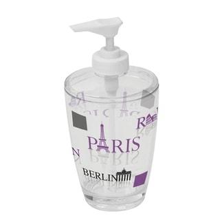 Evideco Clear Acrylic Soap Dispenser Lotion Pump Design World Capitals