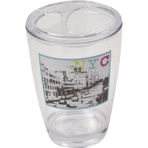 Evideco Clear Acrylic Toothbrush Toothpaste Holder Design Urban Nyc