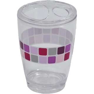 Evideco Clear Acrylic Toothbrush Toothpaste Holder Design Mosaic