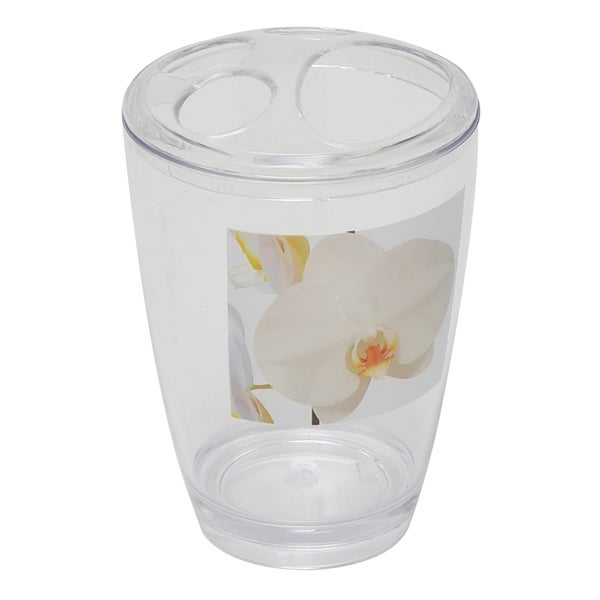 Evideco Acrylic Toothbrush Toothpaste Holder Design Purity Orchid