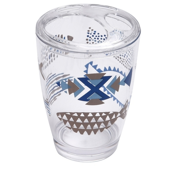 Evideco Clear Acrylic Toothbrush Toothpaste Holder Design Nautical