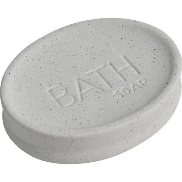 Evideco Stoneware Soap Dish Cup BATH Sand Stone Effect Natural