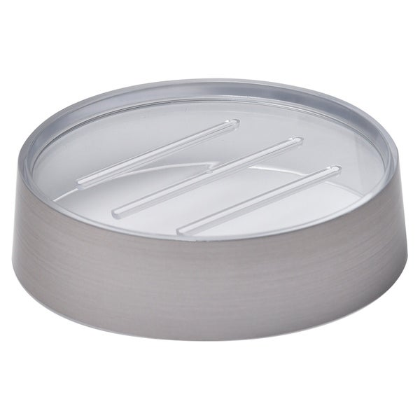 Evideco  Round Soap Dish Cup Noumea Metallized Effect