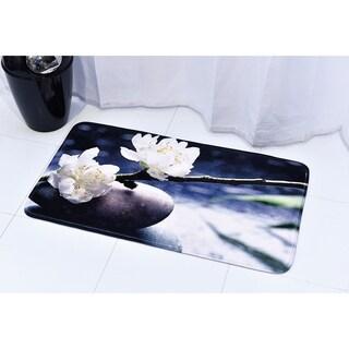 Evideco Microfiber Bath Mat Design QUIET Black Bath Rug
