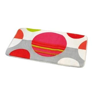 Evideco Microfiber Bath Mat Design Eclats Multicolor Bath Rug
