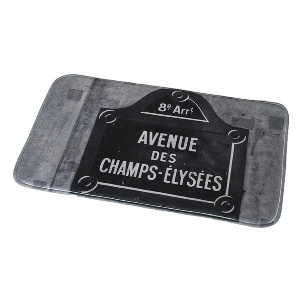 Evideco Microfiber Bath Mat Design Paris City Bath Rug