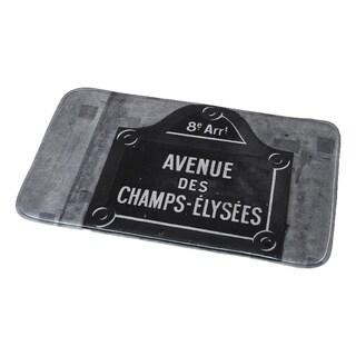 Evideco Microfiber Bath Mat Design Paris City Bath Rug