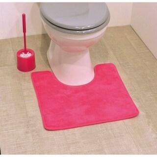 Evideco Microfiber Pedestal Toilet Mat Toilet Contour Rug Non Skid - 20 x 20