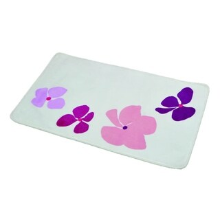 Evideco Microfiber Bath Mat Design Softies Purple Bath Rug