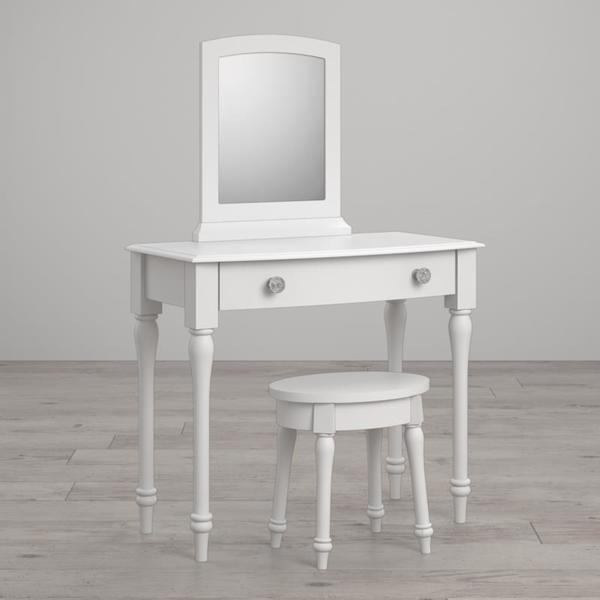 Marvelous Shop Little Seeds Rowan Valley Laren White Vanity And Stool Andrewgaddart Wooden Chair Designs For Living Room Andrewgaddartcom