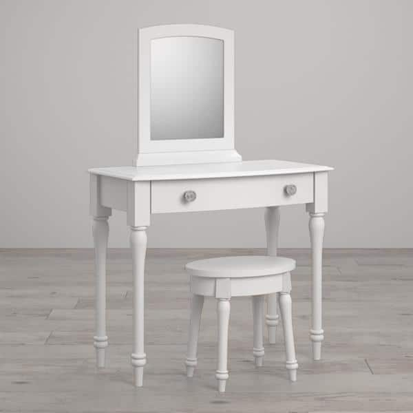 Outstanding Shop Little Seeds Rowan Valley Laren White Vanity And Stool Caraccident5 Cool Chair Designs And Ideas Caraccident5Info