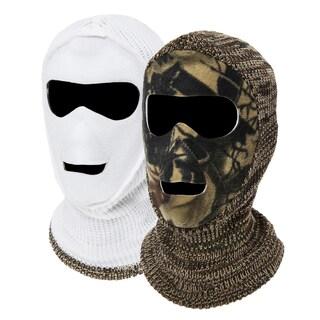 QuietWear Men's 2-Hole Reversible Face Mask